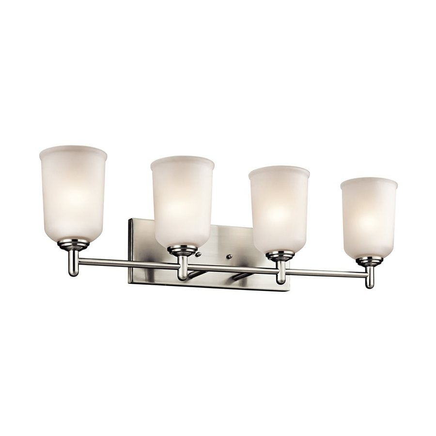 Kichler Shailene 4-Light 8.25-in Brushed Nickel Cylinder Vanity Light