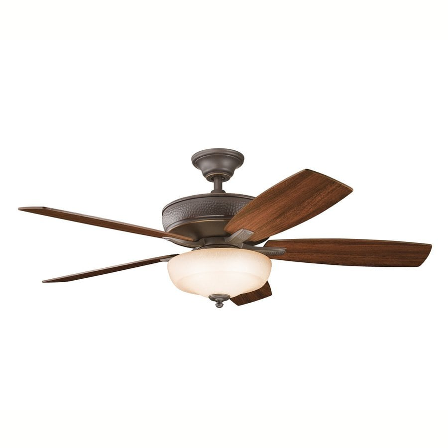 Kichler Monarch II Select 52-in Olde bronze Indoor Downrod Or Close Mount Ceiling Fan with Light Kit and Remote