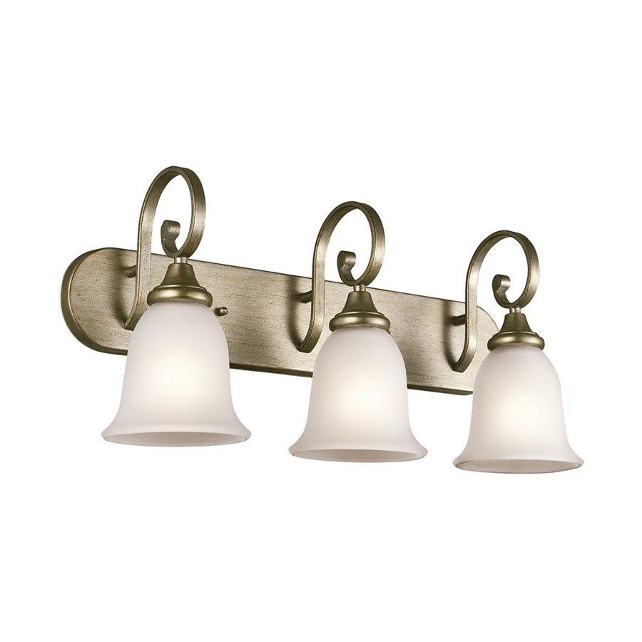 Kichler Lighting Monroe 3-Light Sterling Gold Bell Vanity Light