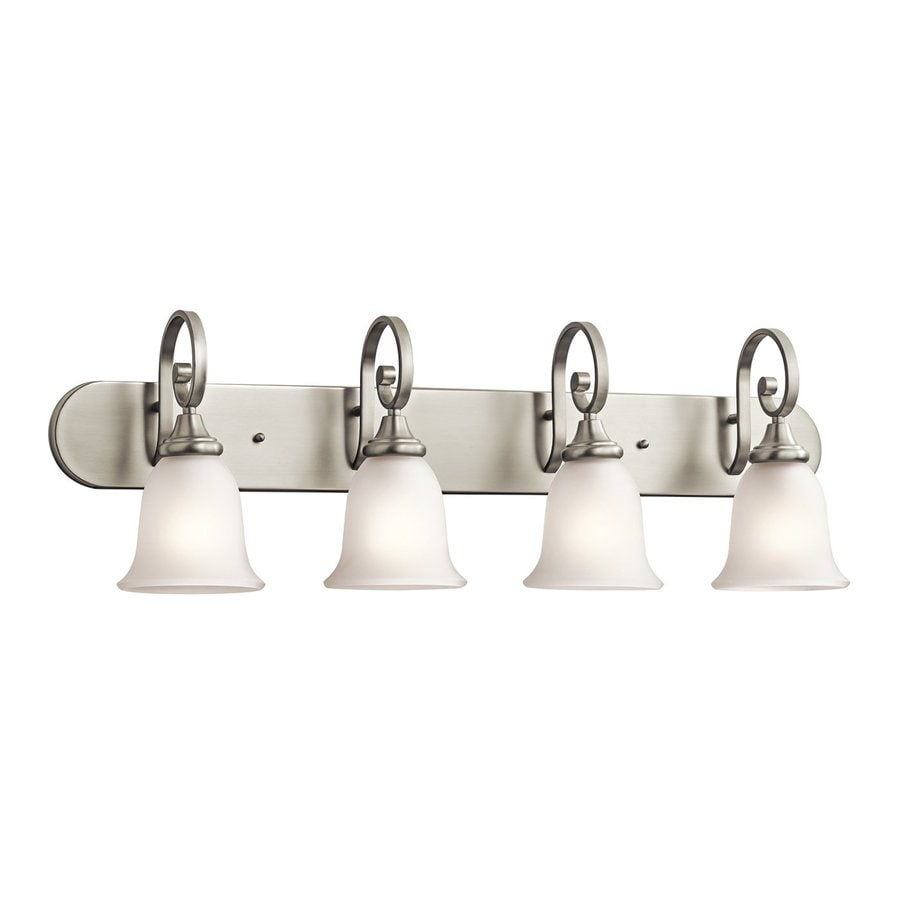 Kichler Monroe 4-Light 11.5-in Brushed Nickel Bell Vanity Light