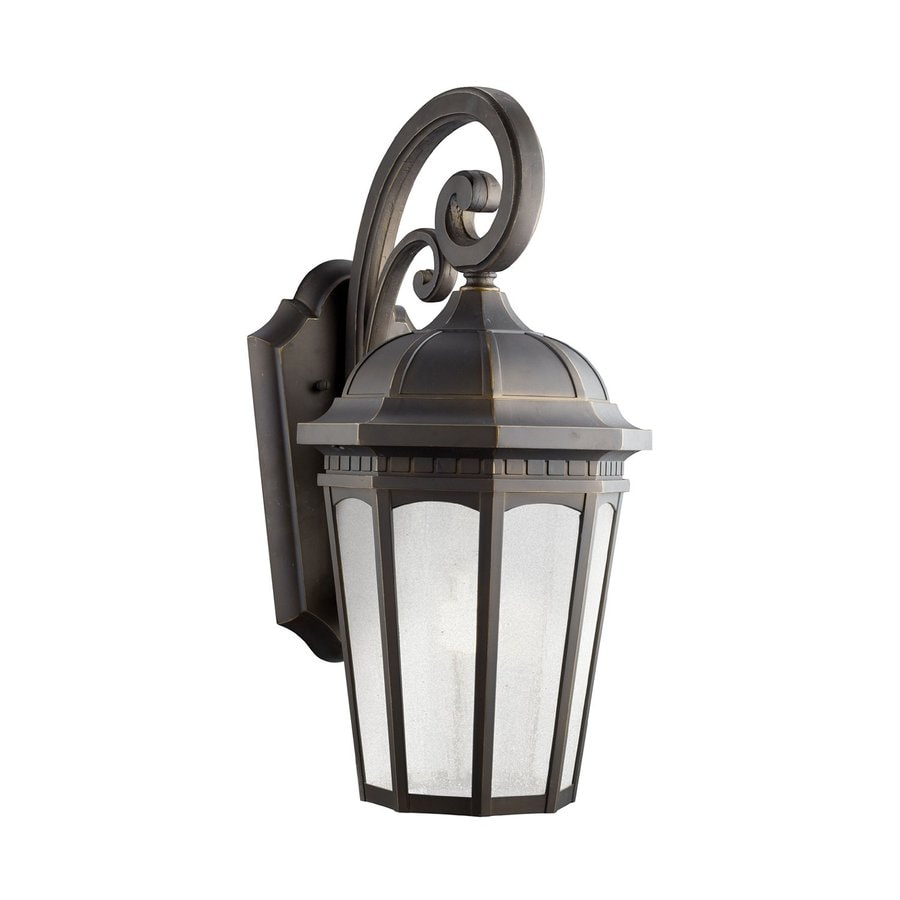 Kichler Lighting Courtyard 22.25-in H Rubbed Bronze Fluorescent Outdoor Wall Light