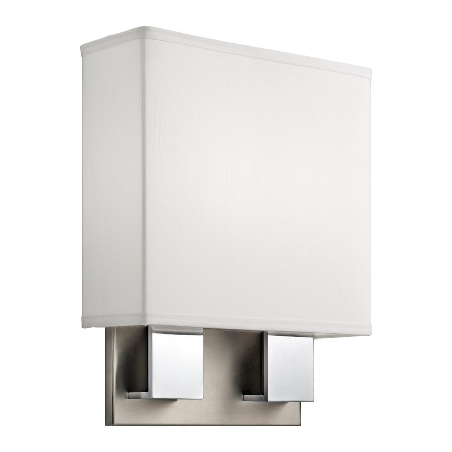Kichler Santiago 1-Light 14.25-in Brushed Nickel Rectangle Vanity Light
