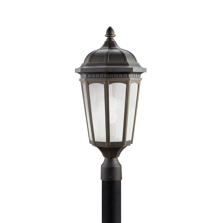 Kichler Lighting Courtyard 23.75-in H Rubbed Bronze Post Light