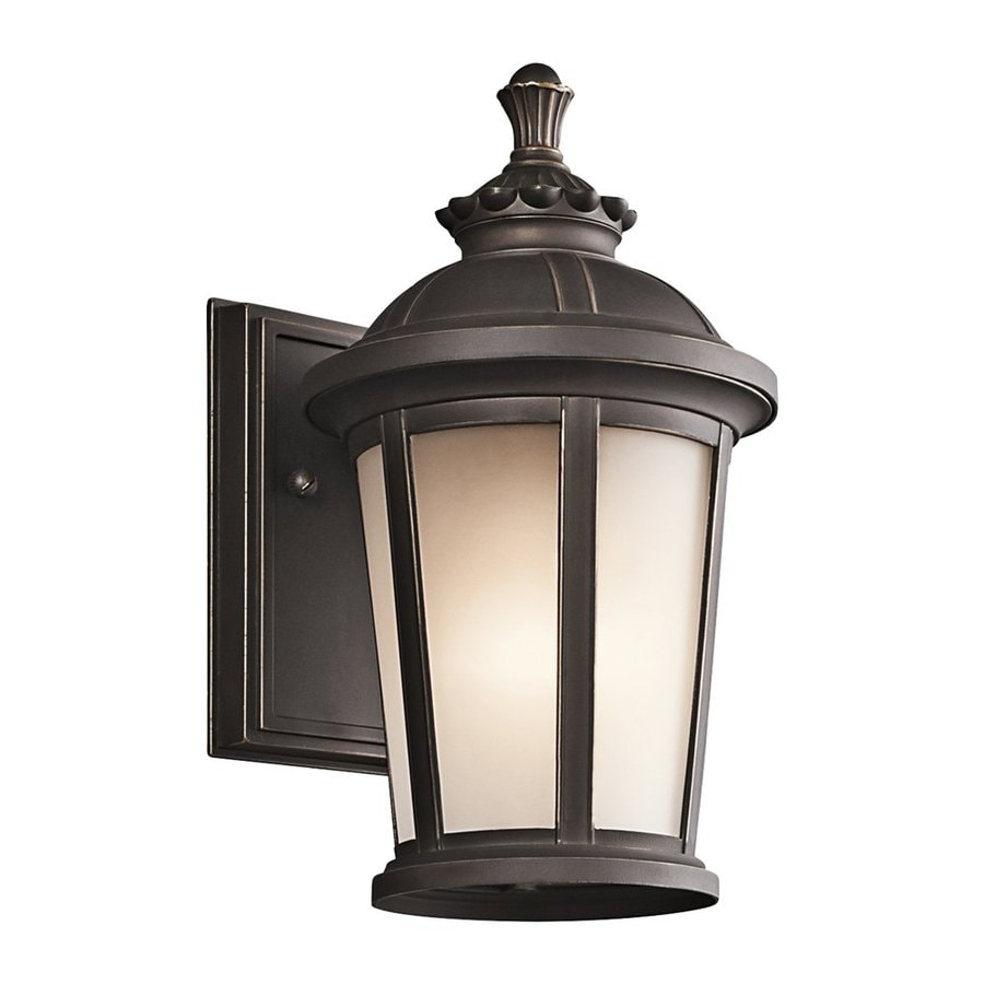 Shop Kichler Lighting Ralston 10 5 In H Rubbed Bronze Outdoor Wall Light At L