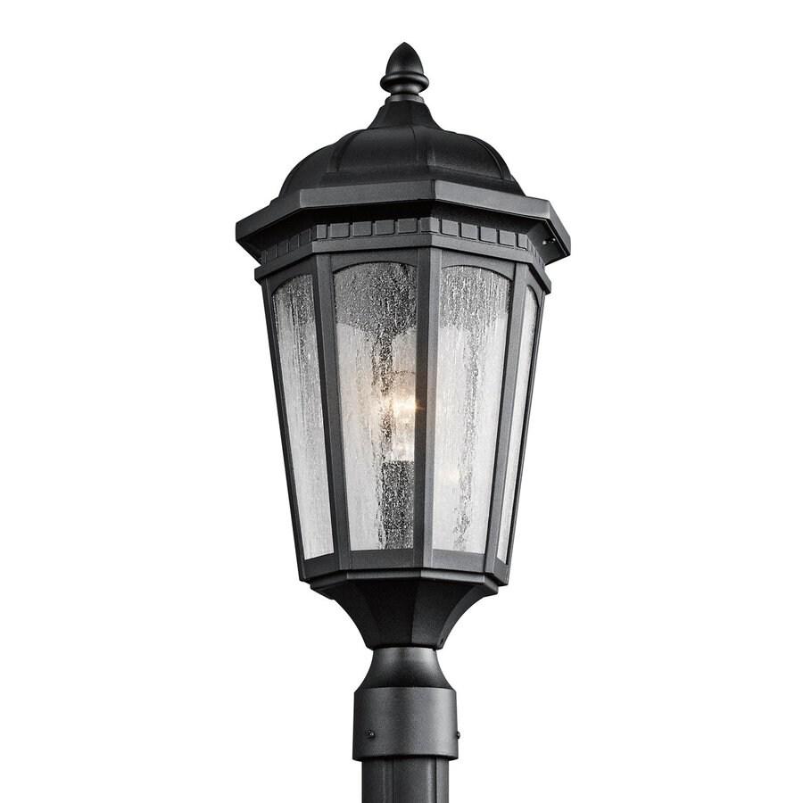 Kichler Courtyard 23.75-in H Textured Black Post Light