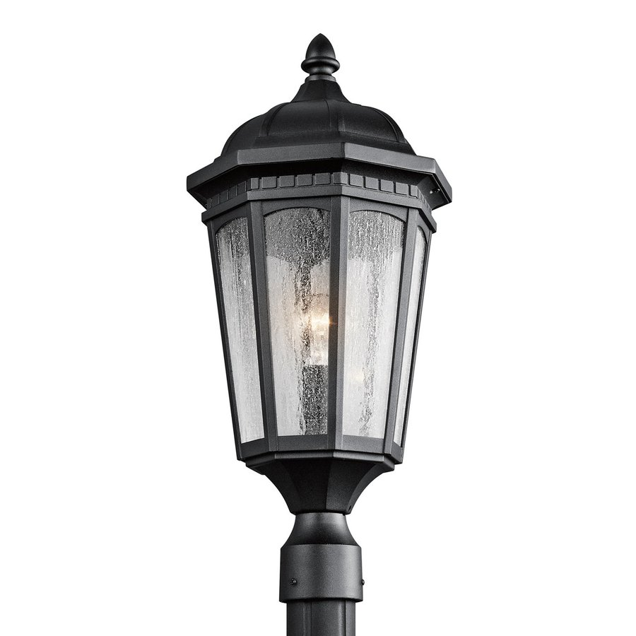 Kichler Lighting Courtyard 23.75-in H Textured Black Post Light