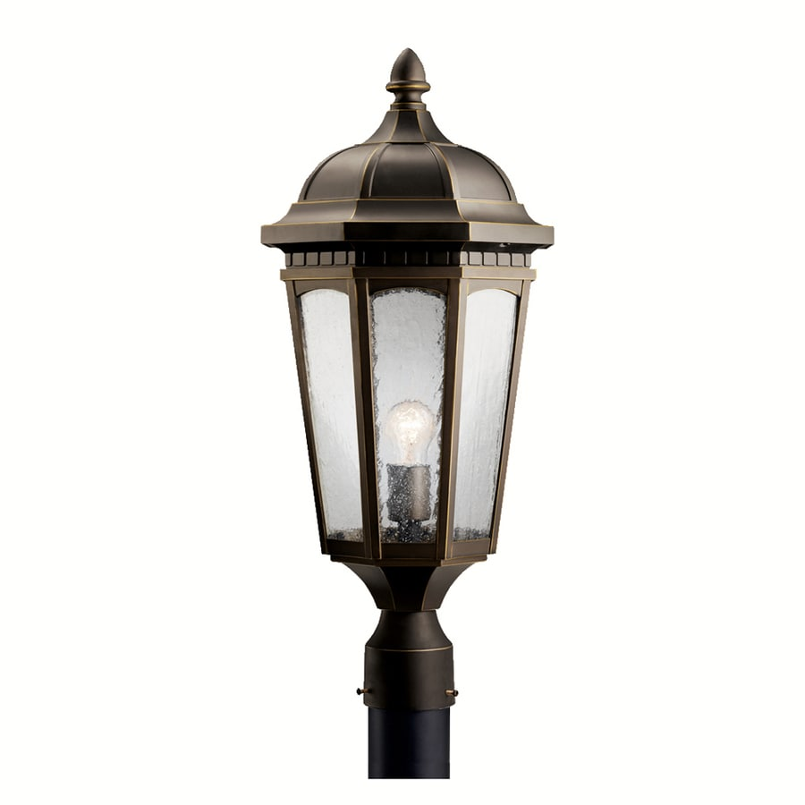 Kichler Courtyard 23.75-in H Rubbed Bronze Post Light