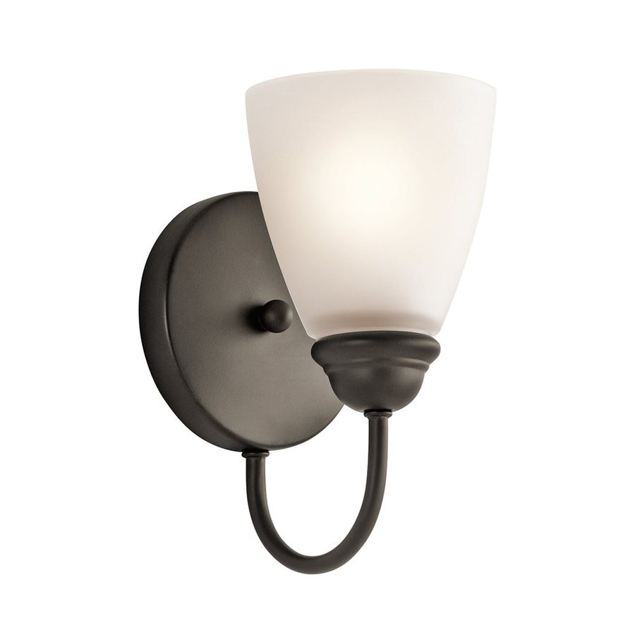 Kichler Jolie 1-Light 9-in Olde bronze Cone Vanity Light