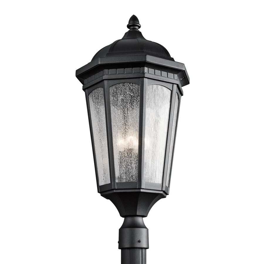 Shop Kichler Courtyard 27 In H Textured Black Post Light At