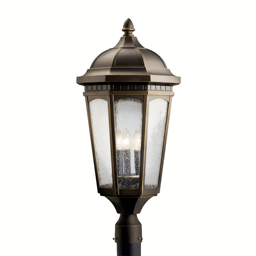 Kichler Courtyard 27-in H Rubbed Bronze Post Light