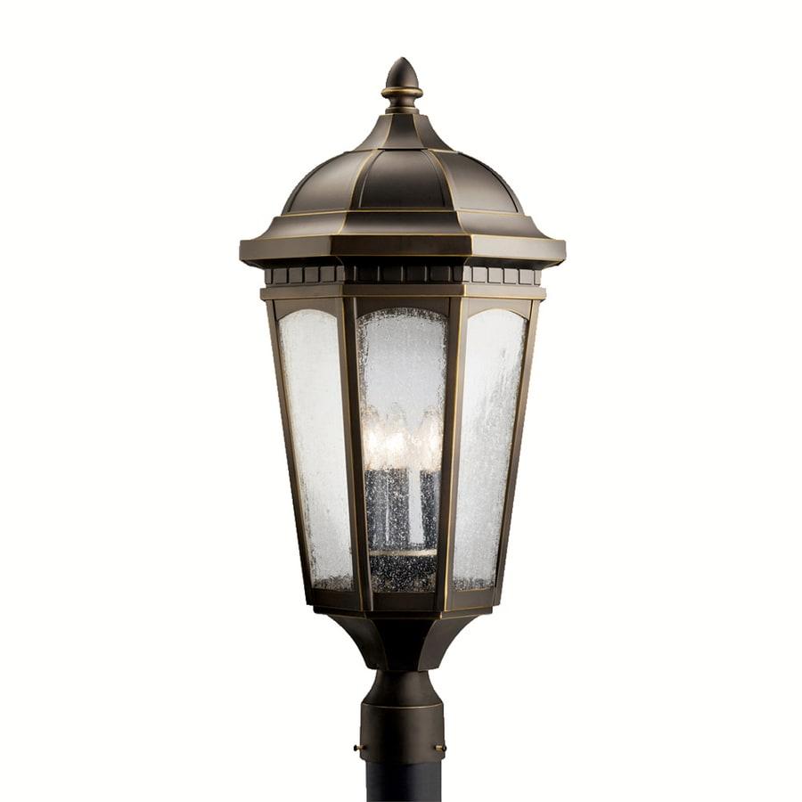 Kichler Lighting Courtyard 27-in H Rubbed Bronze Post Light