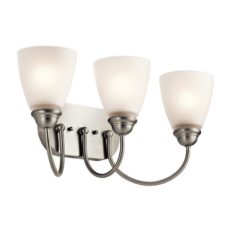 Kichler Lighting Jolie 3-Light 9.25-in Brushed Nickel Cone Vanity Light
