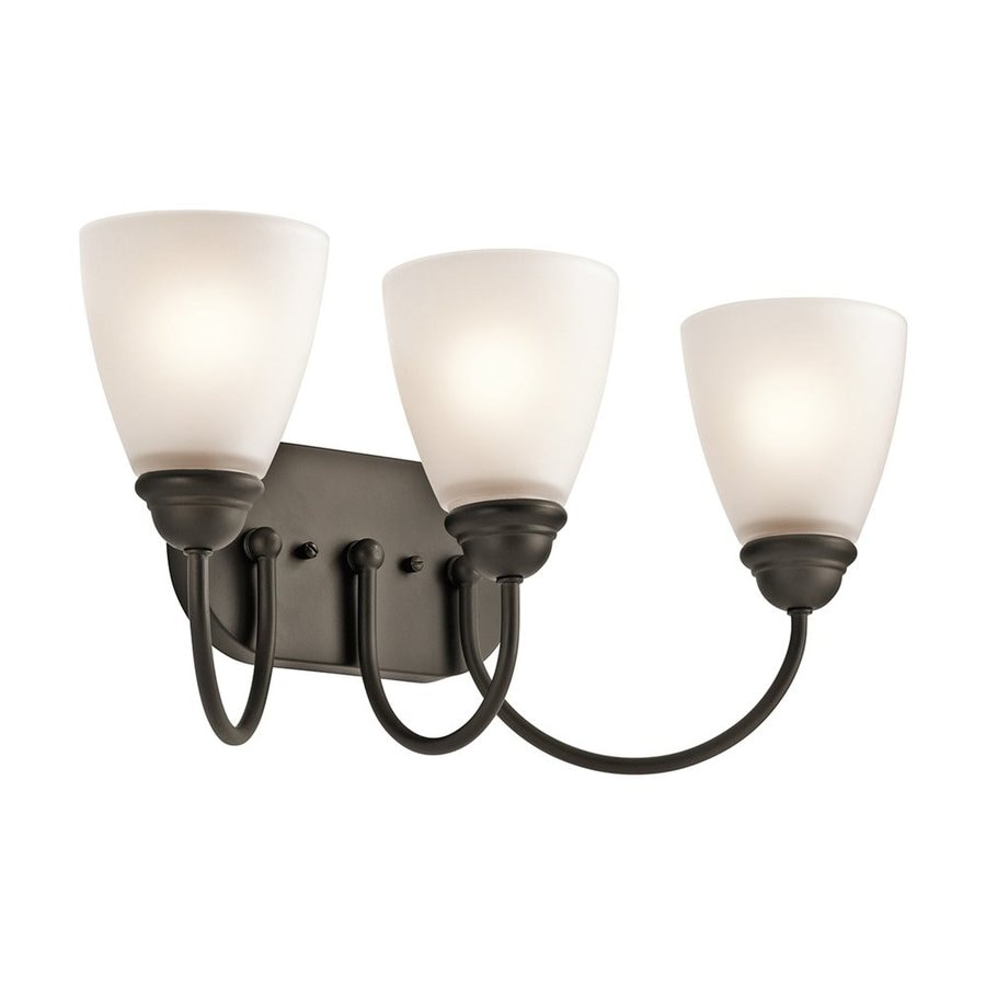 Kichler Jolie 3-Light 9.25-in Olde Bronze Cone Vanity Light