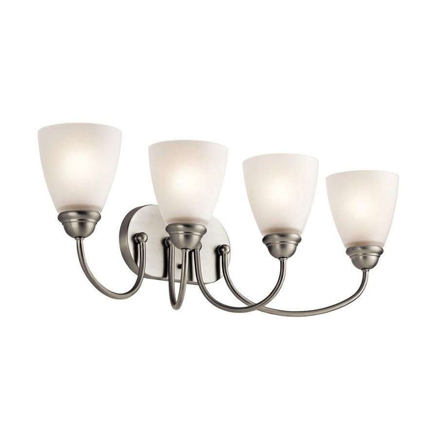 Kichler Lighting Jolie 4-Light 9.25-in Brushed Nickel Cone Vanity Light
