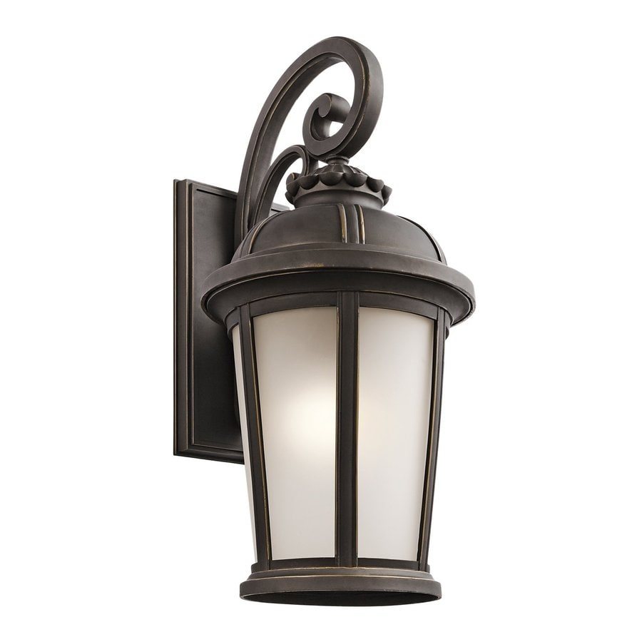 Kichler Ralston 25-in H Rubbed Bronze Outdoor Wall Light