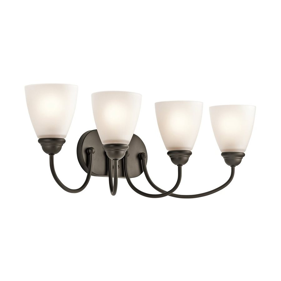 Kichler Jolie 4-Light 9.25-in Olde Bronze Cone Vanity Light