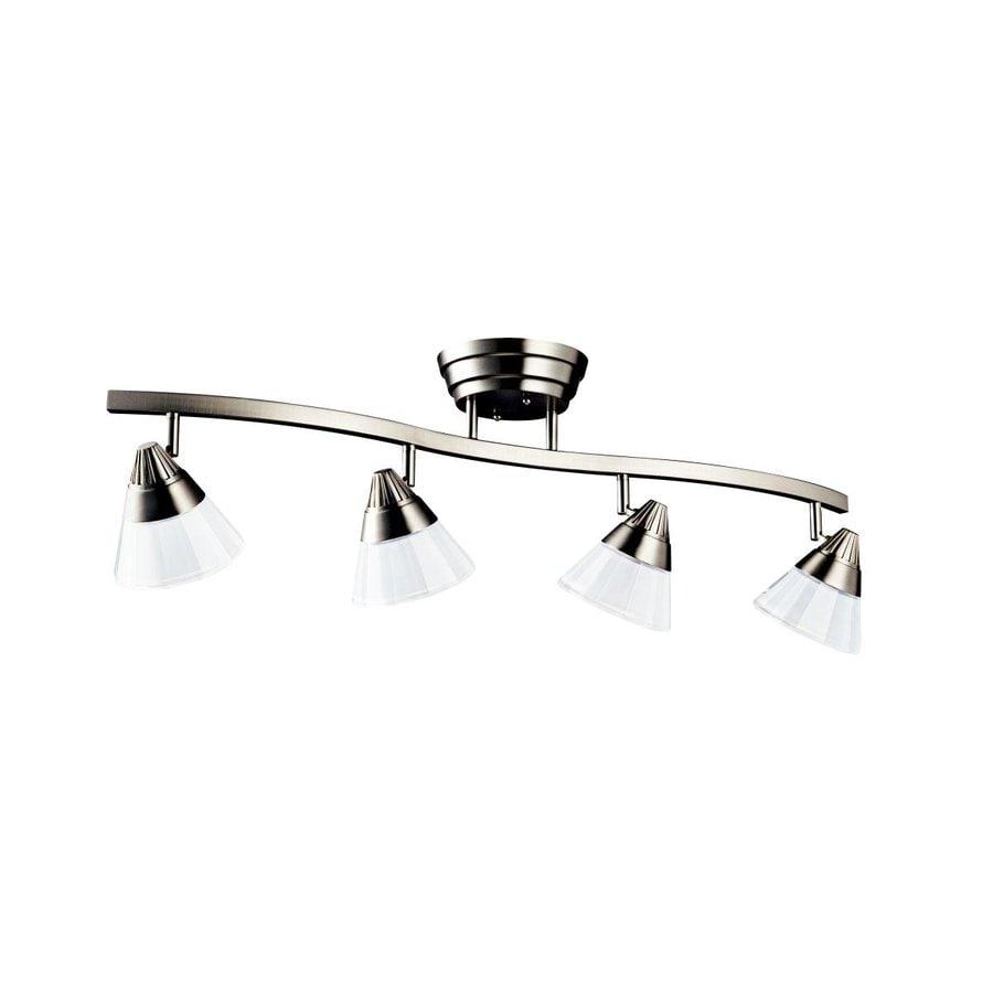 Led Track Lighting Brushed Nickel: Kichler Design Pro 4-Light 33.5-in Brushed Nickel Dimmable