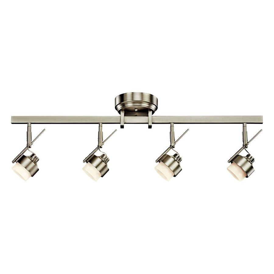 Led Track Lighting : Kichler Lighting 4-Light 35.25-in Brushed Nickel LED Fixed Track Light ...