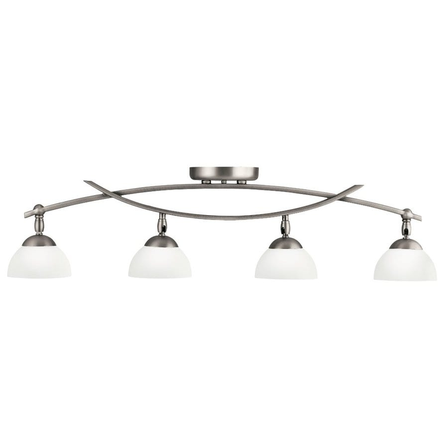 Kichler Bellamy 4-Light 34.25-in Antique Pewter Fixed Track Light Kit