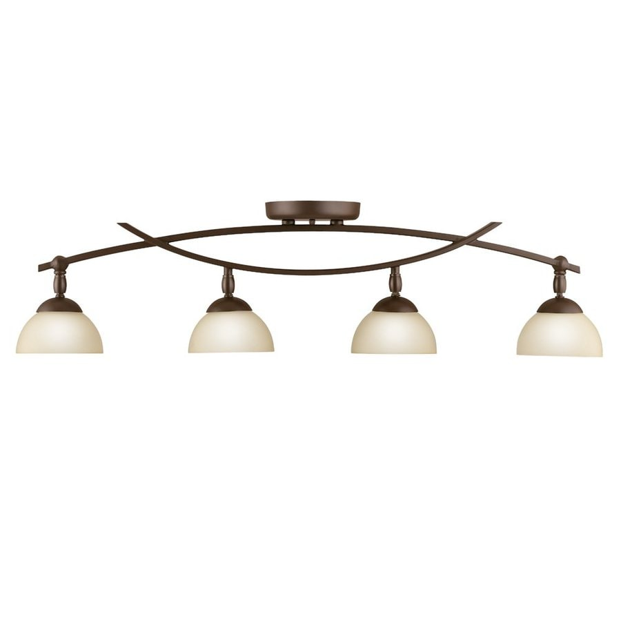 Kichler Bellamy 4-Light 34.25-in Olde Bronze Fixed Track Light Kit