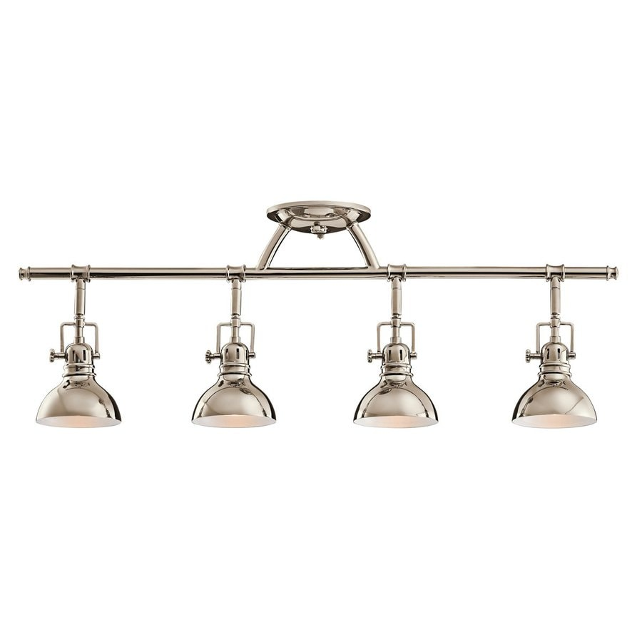 Kichler Hatteras Bay 4 Light 31 25 In Polished Nickel Track Bar Fixed