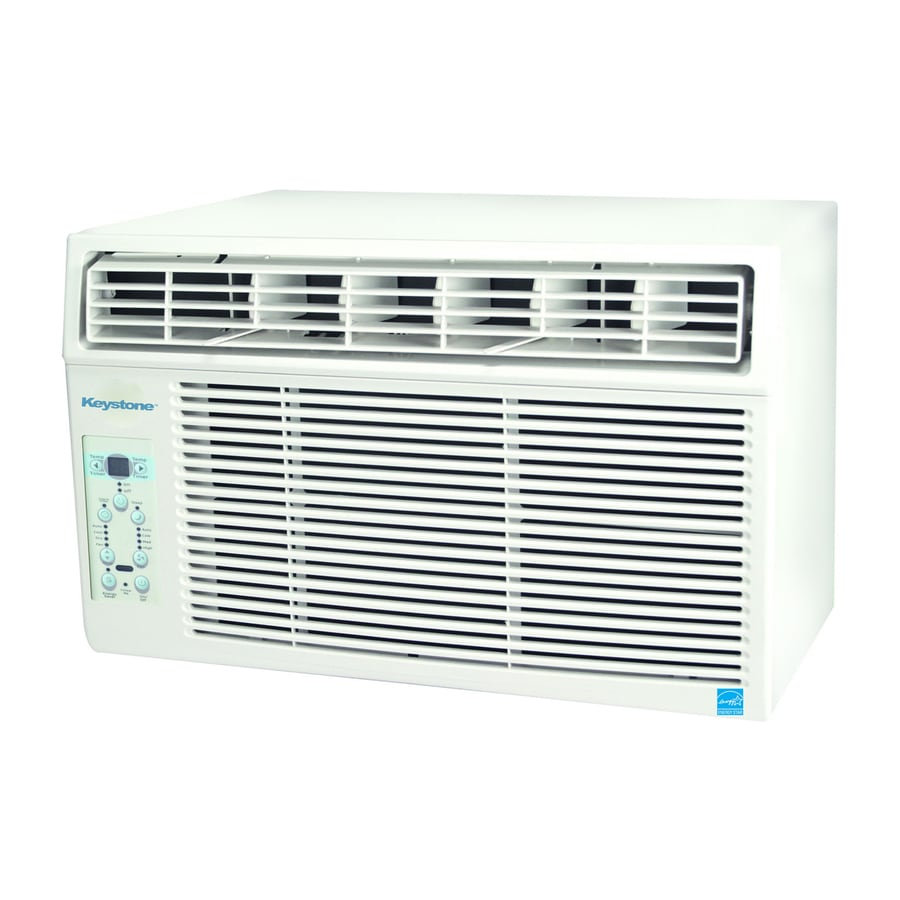 Shop keystone 12 000 btu 550 sq ft 115 volt window air for 12 000 btu window air conditioner with heat