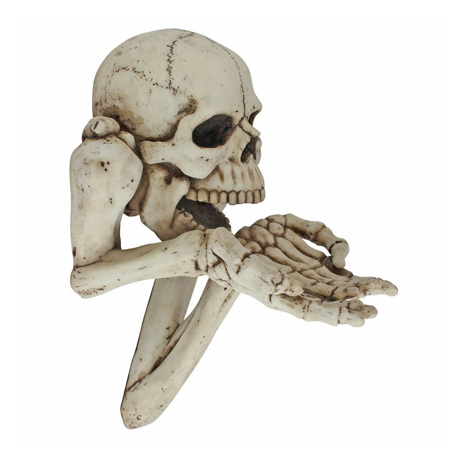 Design Toscano Beggar for Souls Wall-Mounted Skeleton Sculpture