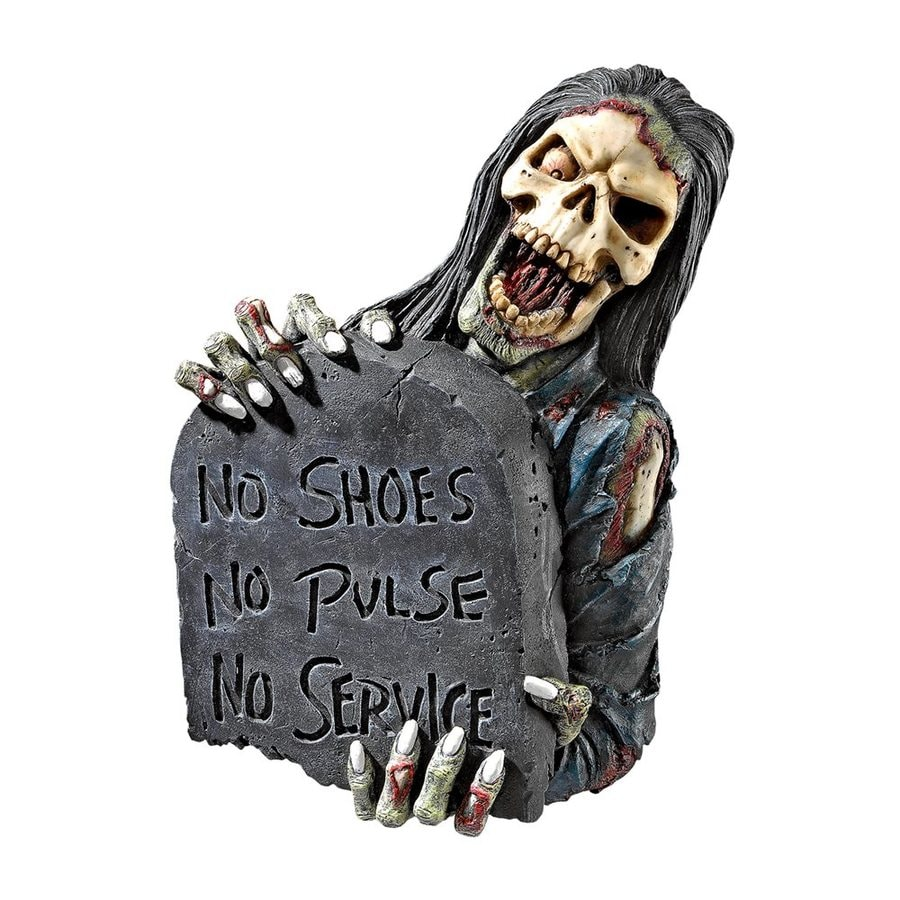 Design Toscano No Shoes, No Pulse, No Service Wall-Mounted Zombie Sign