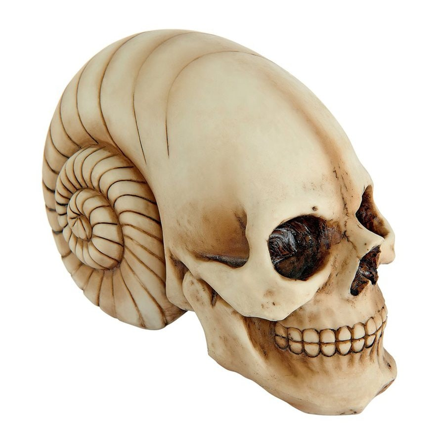 Design Toscano Out Of This World Tabletop Alien Skull Sculpture