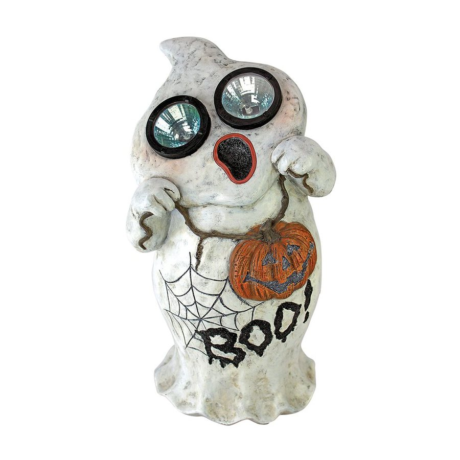 Design Toscano Ghostly Visions Pre-Lit Boo Ghost Statue with Constant White LED Lights