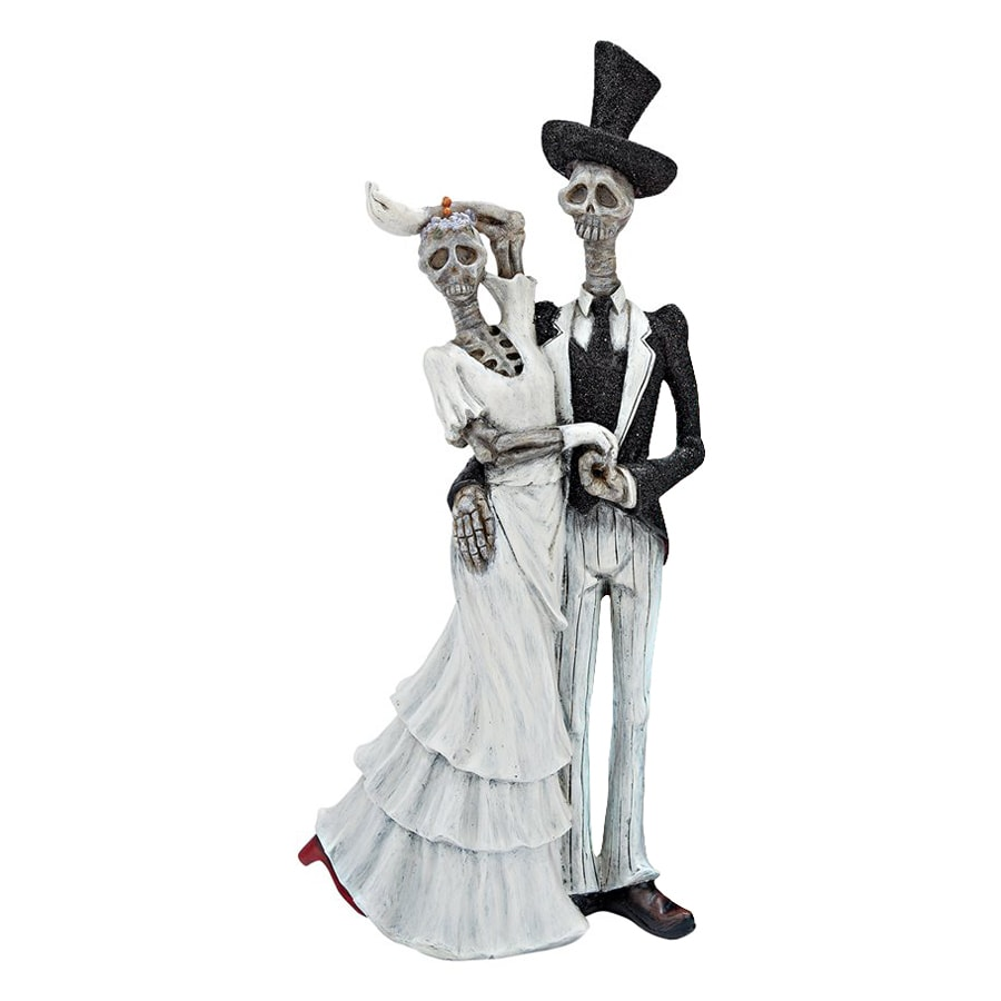 Design Toscano Bride and Doom Tabletop Skeleton Statues
