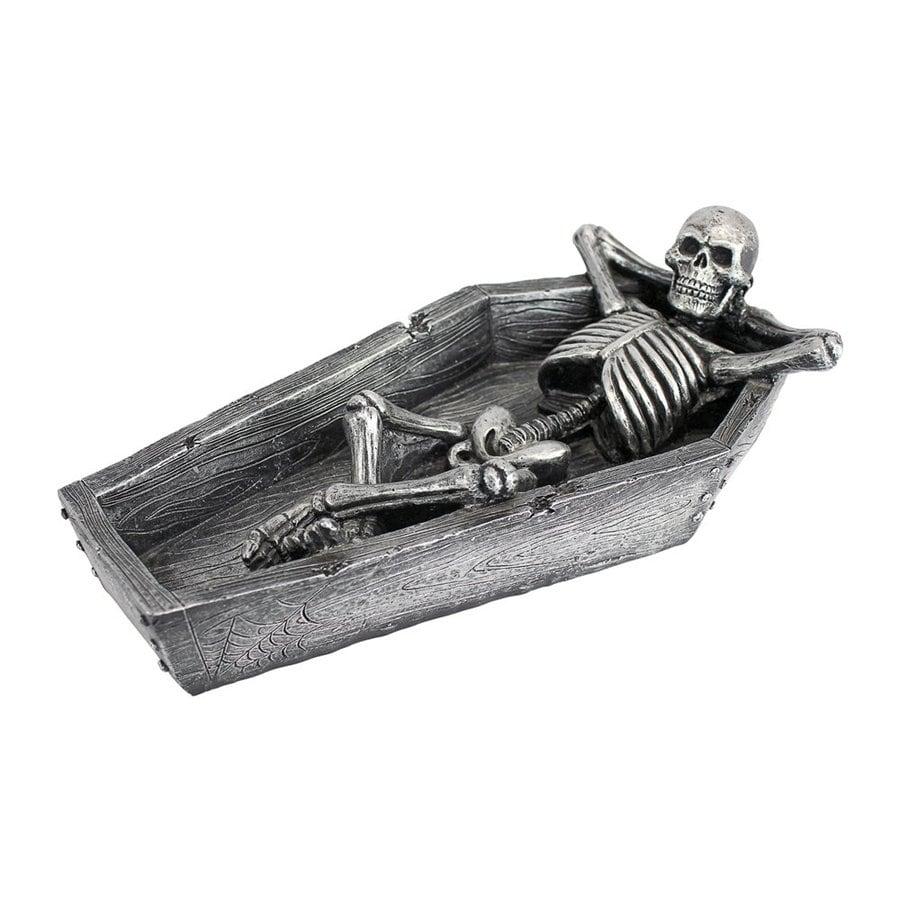 Design Toscano Resting His Weary Bones Freestanding Skeleton Sculpture