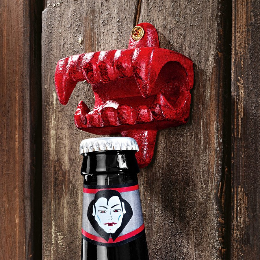 Design Toscano Fangs Of The Vampire Wall-Mounted Bottle Opener