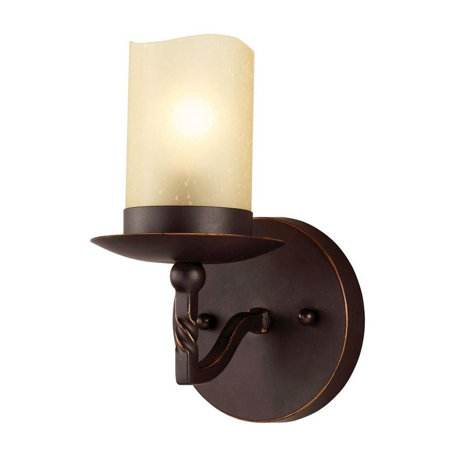 Sea Gull Lighting Trempealeau 1-Light 8.25-in Roman bronze Cylinder Vanity Light