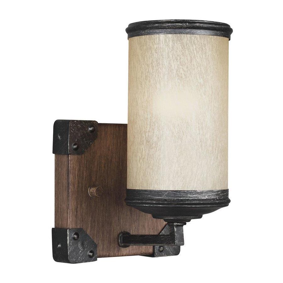 Sea Gull Lighting Dunning 1-Light 8.25-in Stardust Cylinder Vanity Light
