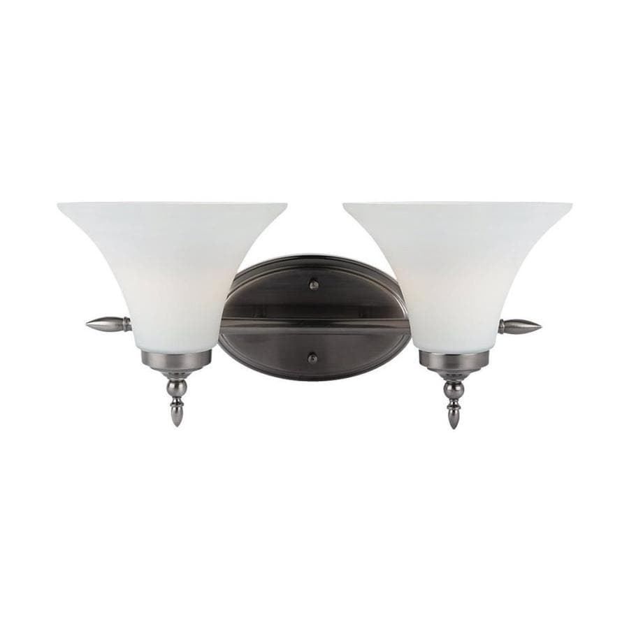 Sea Gull Lighting Montreal 2-Light Antique Brushed Nickel Bell Vanity Light
