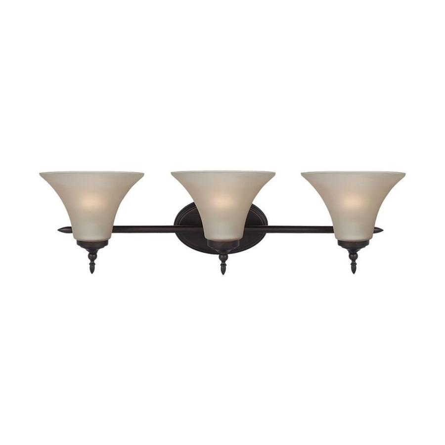 Sea Gull Lighting Montreal 3-Light 8.03-in Burnt sienna Bell Vanity Light