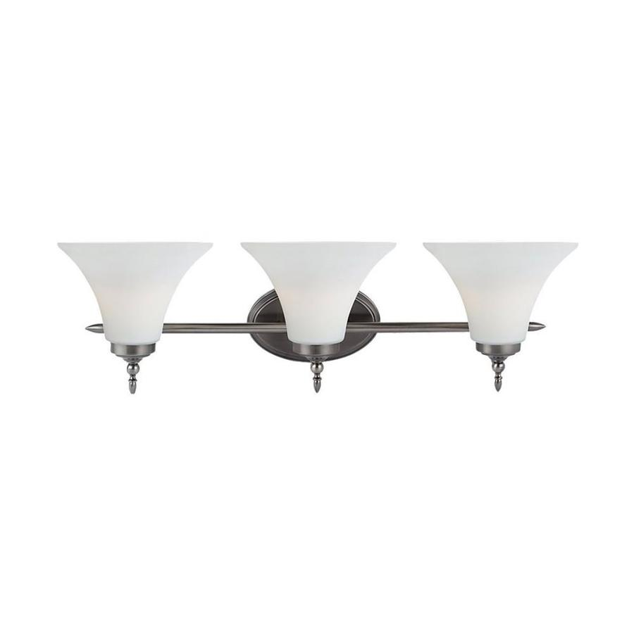 Sea Gull Lighting Montreal 3-Light Antique Brushed Nickel Bell Vanity Light