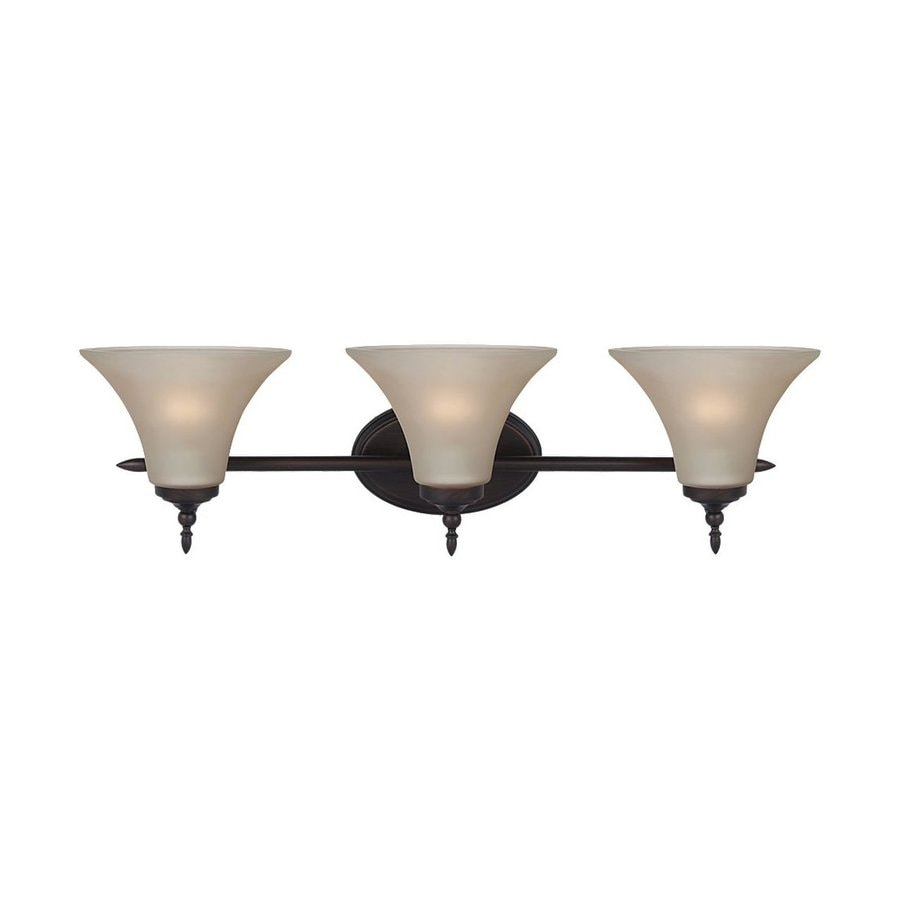 Sea Gull Lighting Montreal 3-Light Burnt Sienna Bell Vanity Light