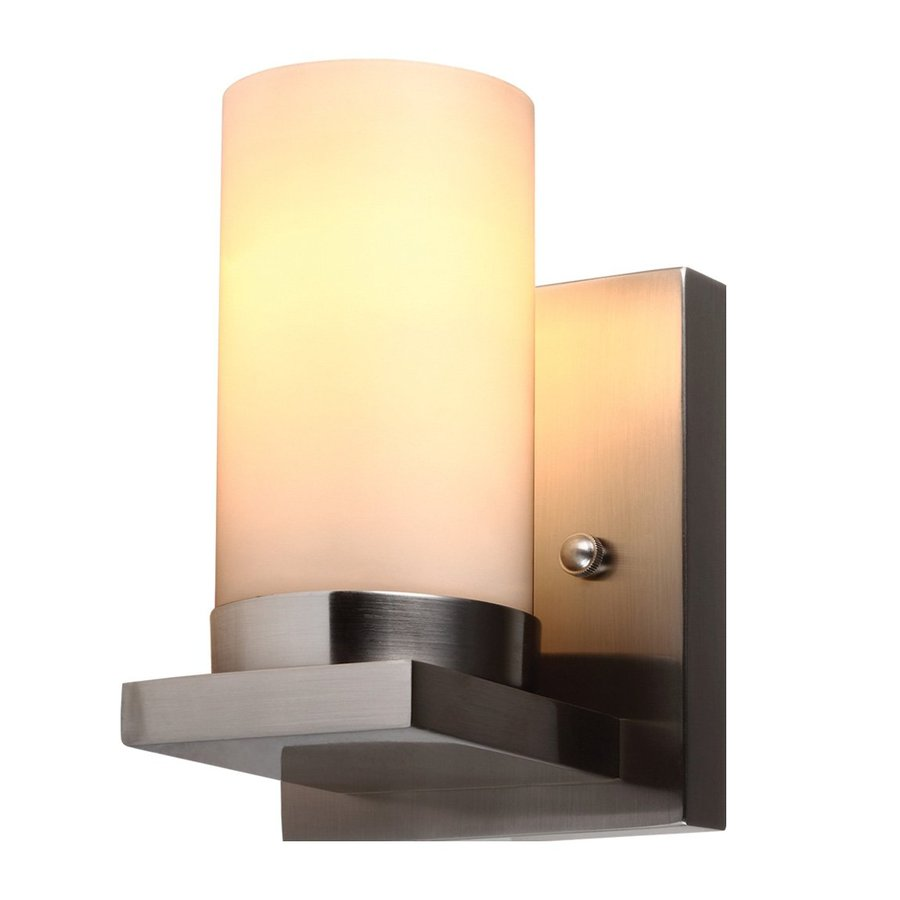 Sea Gull Lighting Ellington 1-Light Brushed Nickel Cylinder Vanity Light