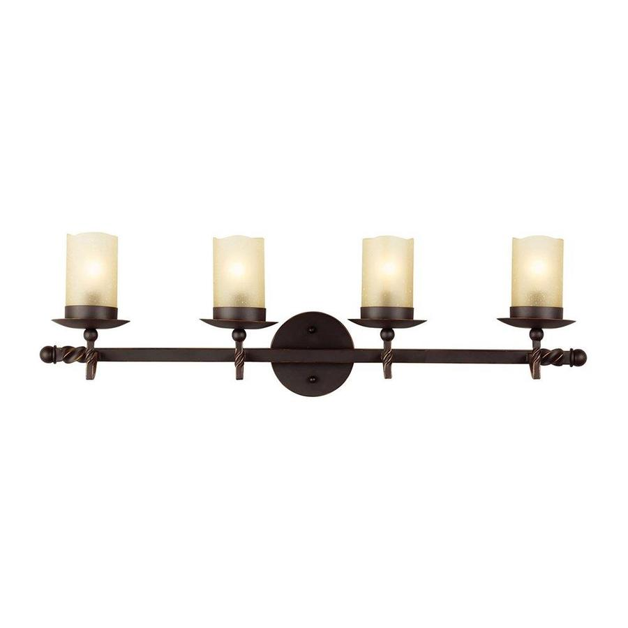 Sea Gull Lighting Trempealeau 4-Light 8.375-in Roman bronze Cylinder Vanity Light