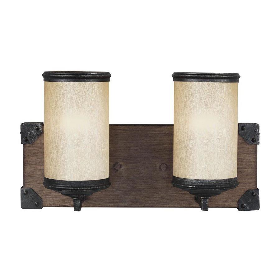Sea Gull Lighting Dunning 2-Light 8.25-in Stardust Cylinder Vanity Light