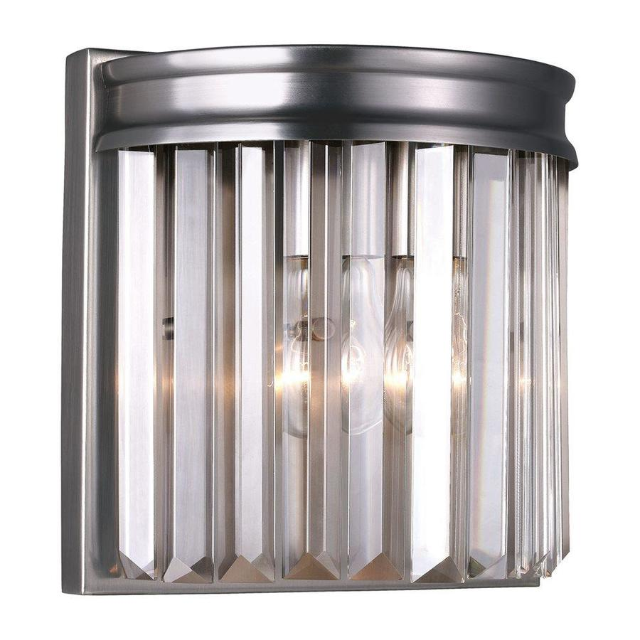 Sea Gull Lighting Carondelet 1-Light Antique Brushed Nickel Waterfall Vanity Light