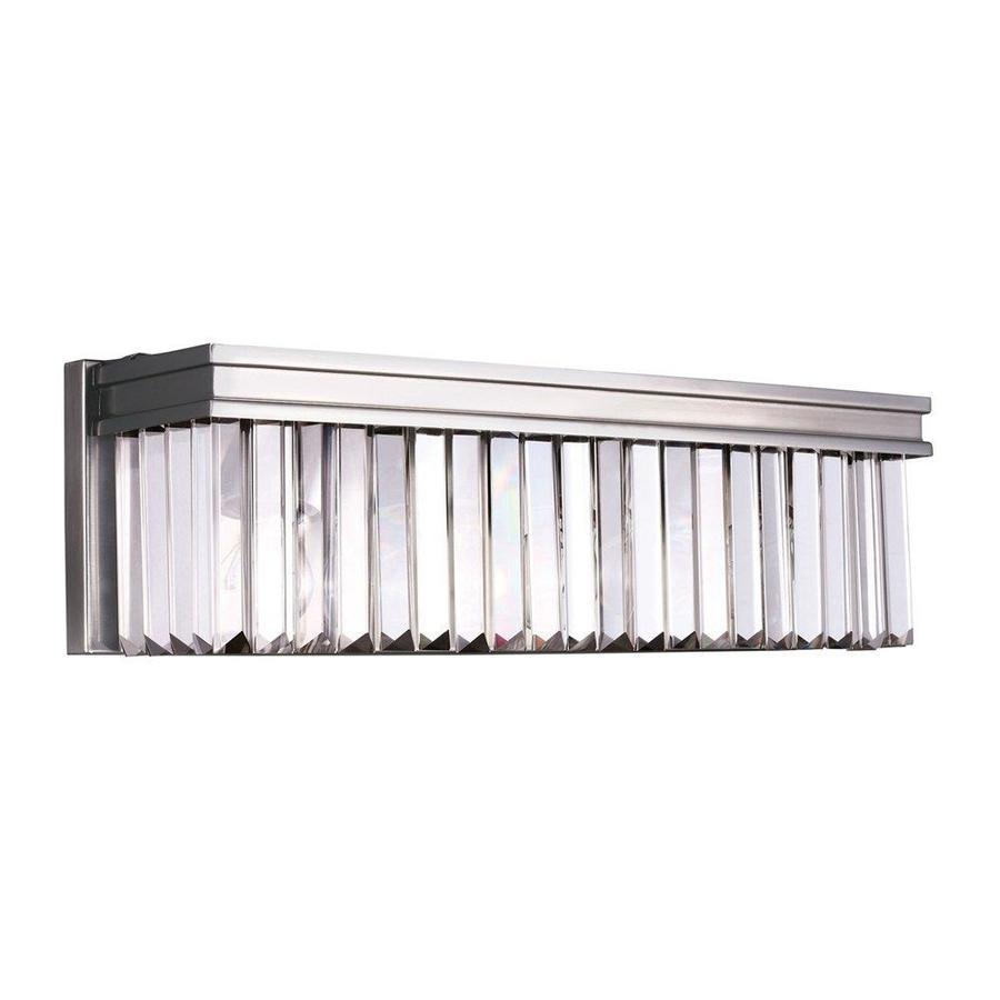 Sea Gull Lighting Carondelet 1-Light Antique Brushed Nickel Rectangle Vanity Light