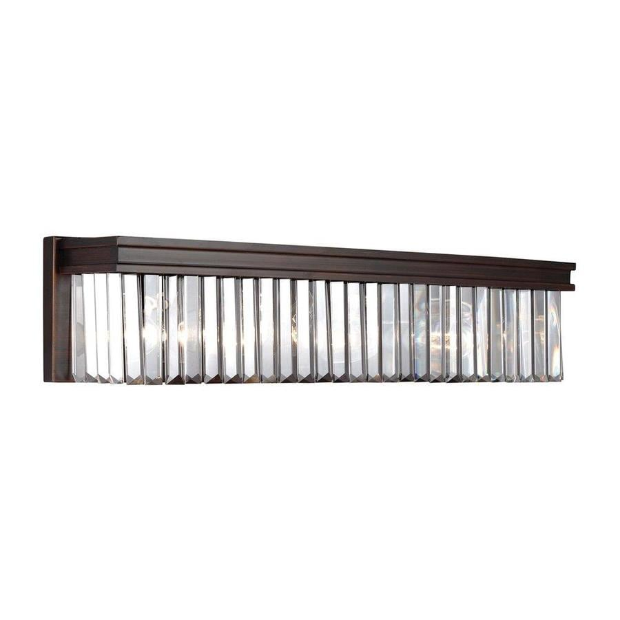 Sea Gull Lighting Carondelet 1-Light Burnt Sienna Rectangle Vanity Light