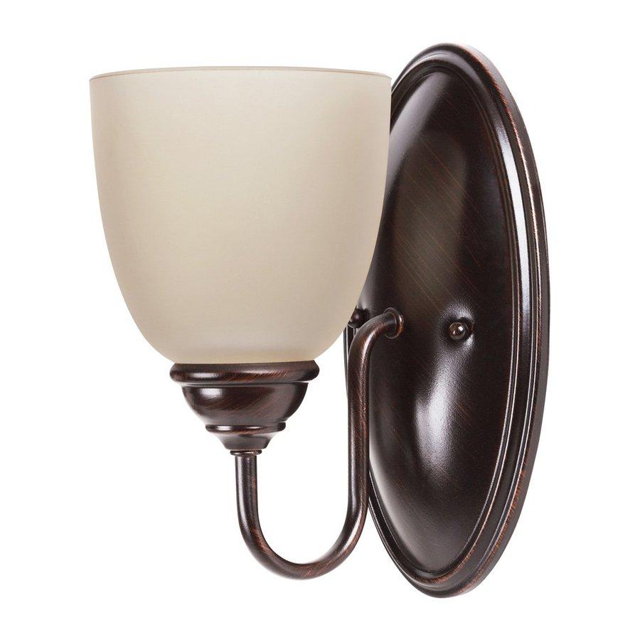 Sea Gull Lighting Lemont 1-Light Burnt Sienna Bell Vanity Light