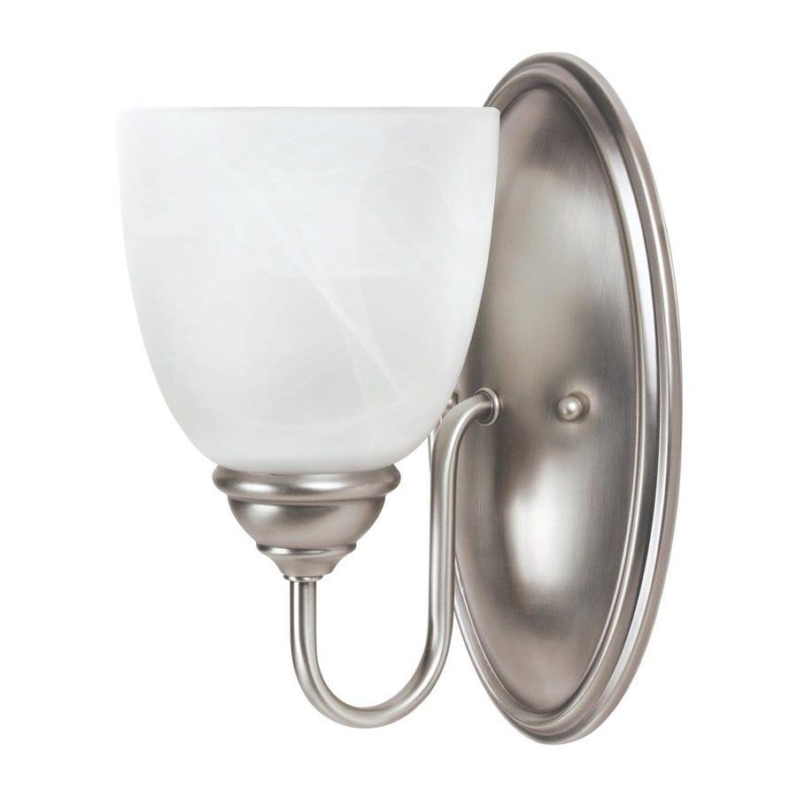 Sea Gull Lighting Lemont 1-Light Antique Brushed Nickel Bell Vanity Light