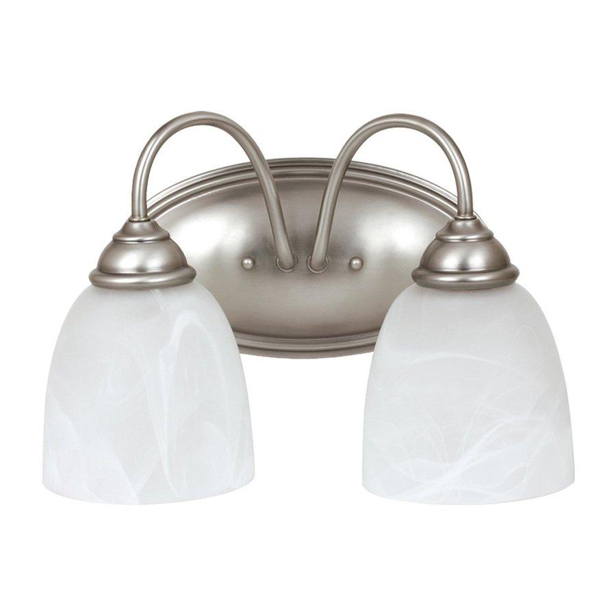 Sea Gull Lighting Lemont 2-Light Antique Brushed Nickel Vanity Light