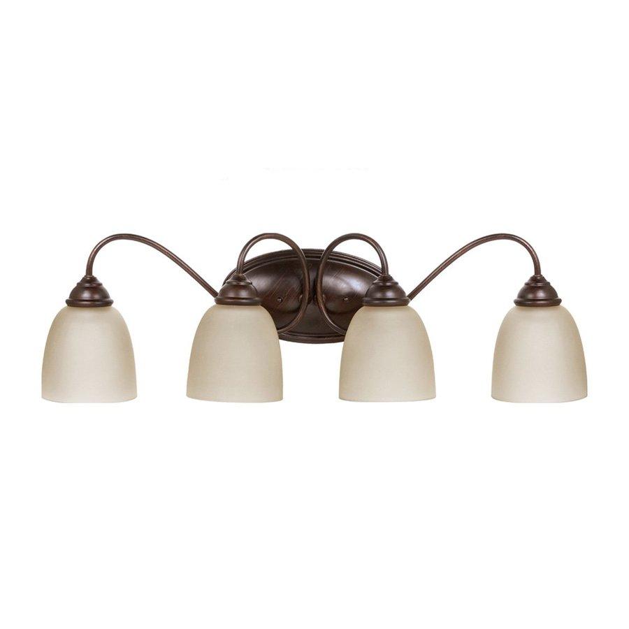 Sea Gull Lighting Lemont 4-Light Burnt Sienna Bell Vanity Light