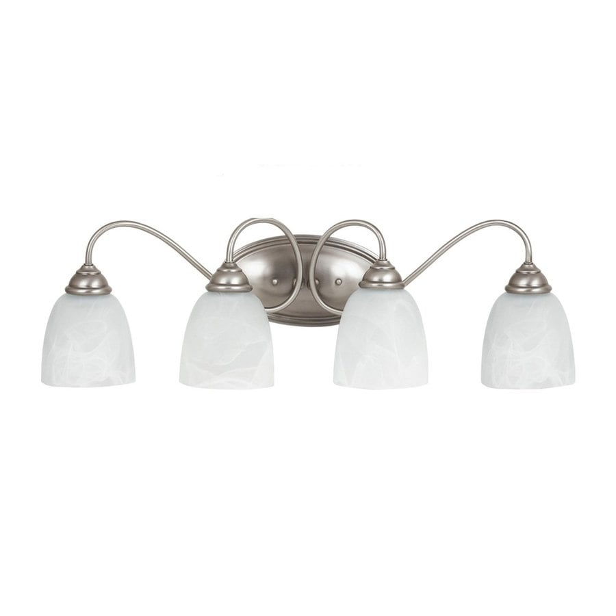 Sea Gull Lighting Lemont 4-Light Antique Brushed Nickel Bell Vanity Light